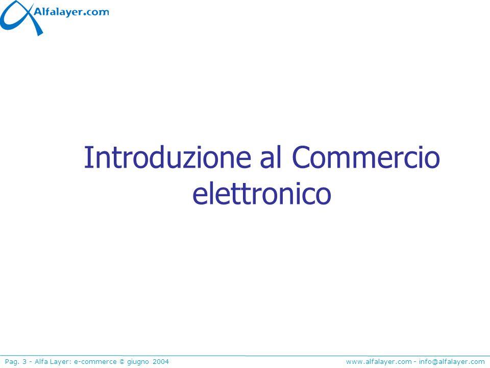 Introduzione al Commercio elettronico