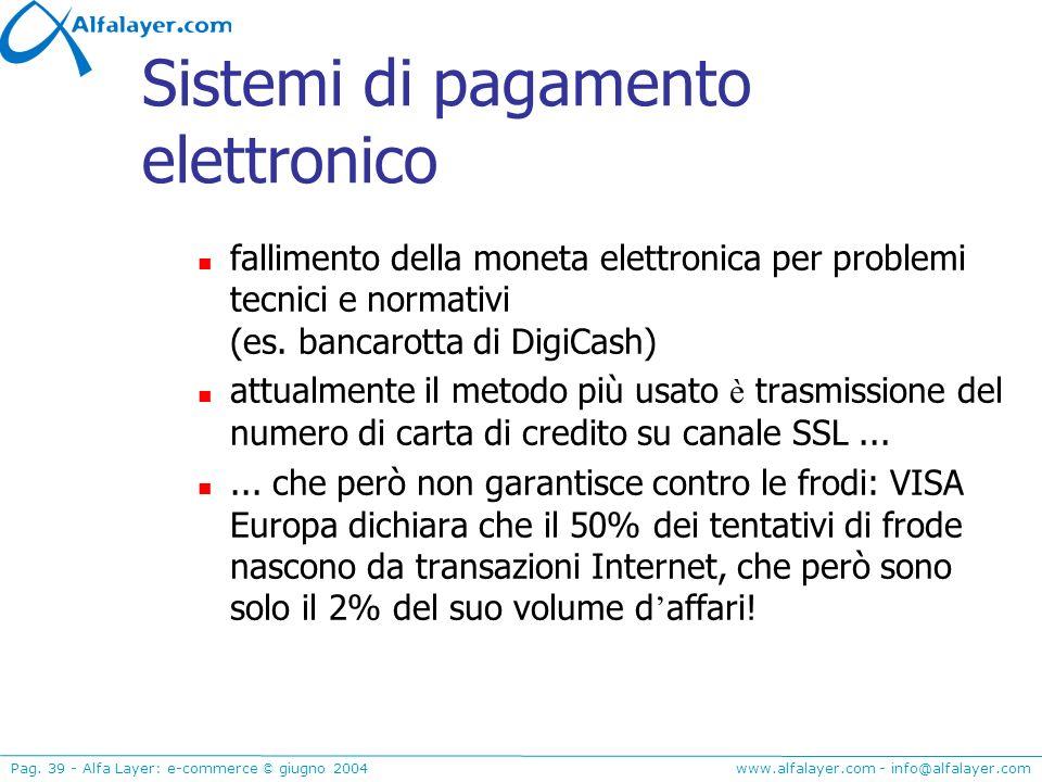 Sistemi di pagamento elettronico
