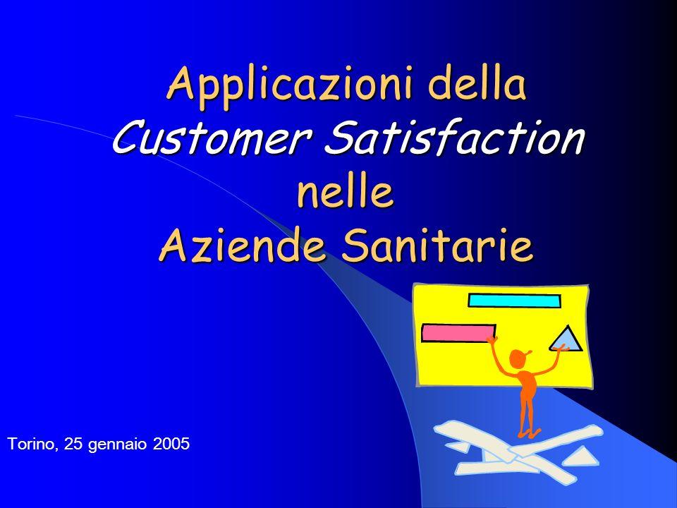 Applicazioni della Customer Satisfaction nelle Aziende Sanitarie