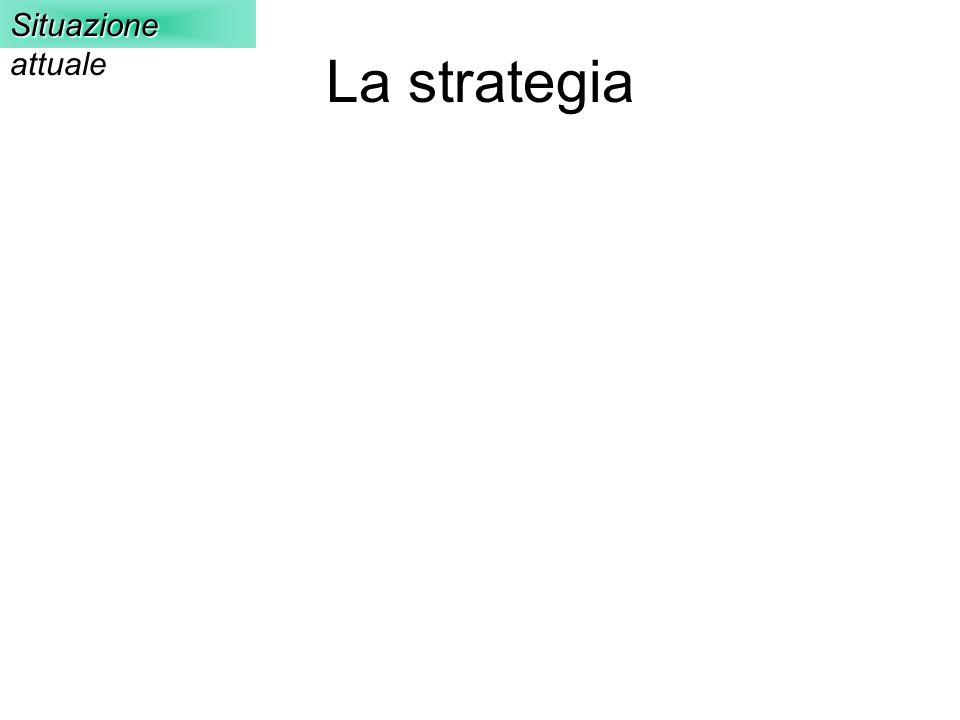 Situazione attuale La strategia