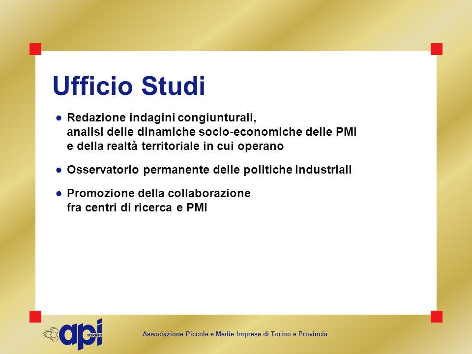 Ufficio Studi  Redazione indagini congiunturali, analisi delle dinamiche socio-economiche delle PMI e della realtà territoriale in cui operano.