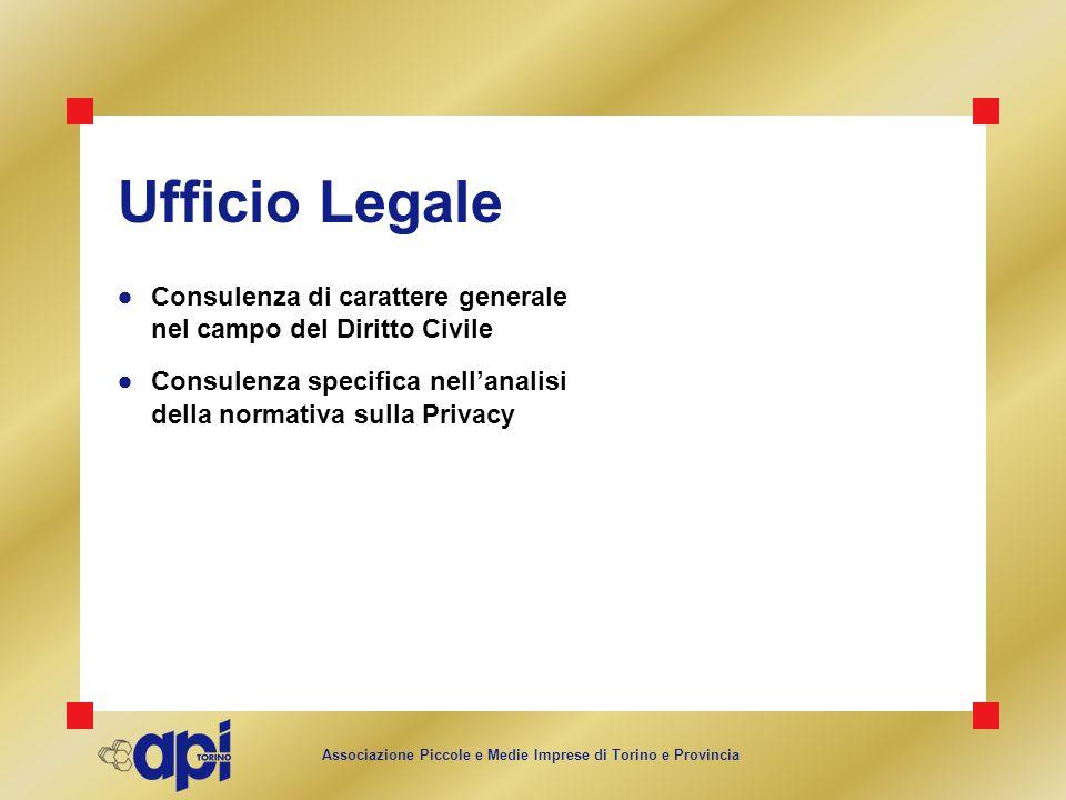 Ufficio Legale Consulenza di carattere generale nel campo del Diritto Civile.