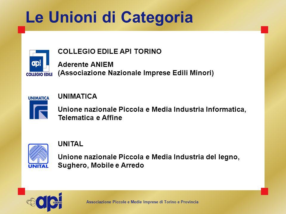 Le Unioni di Categoria COLLEGIO EDILE API TORINO