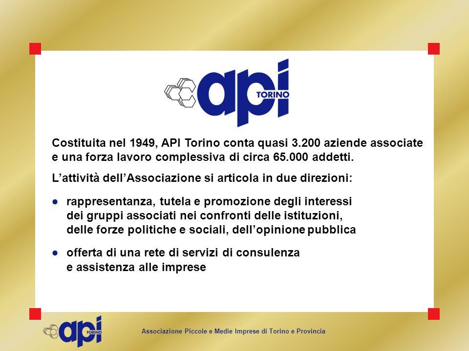 Costituita nel 1949, API Torino conta quasi 3