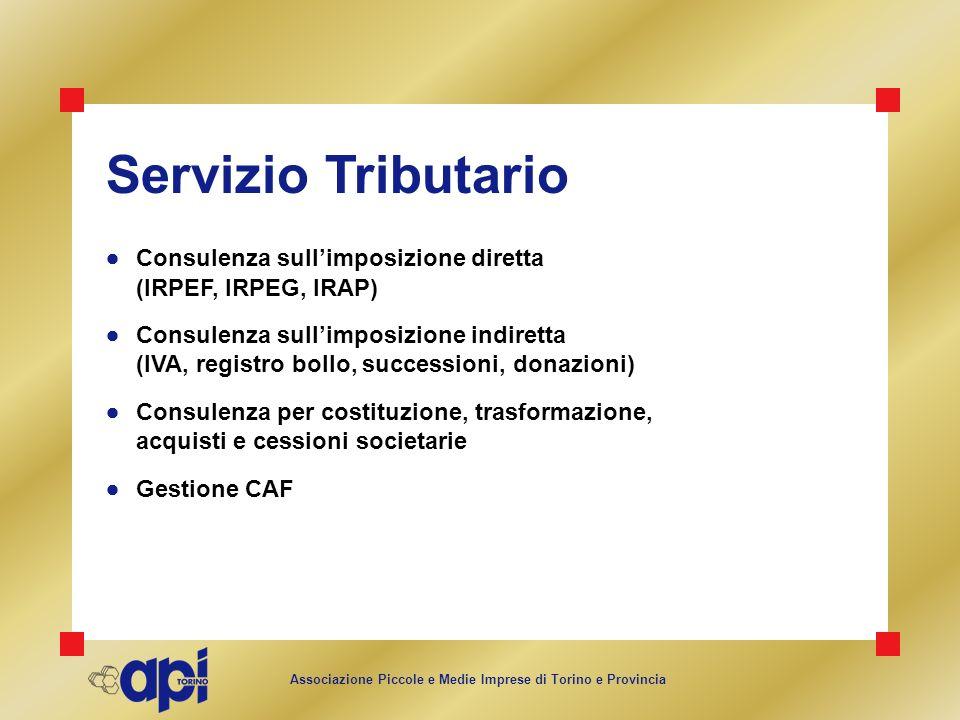 Servizio Tributario Consulenza sull'imposizione diretta (IRPEF, IRPEG, IRAP)