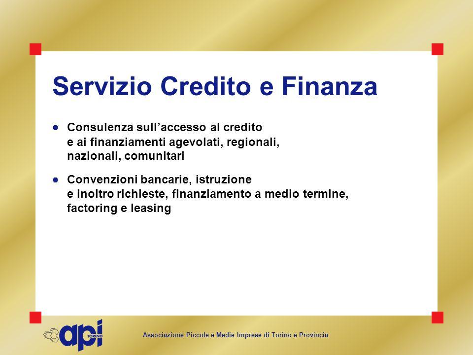 Servizio Credito e Finanza