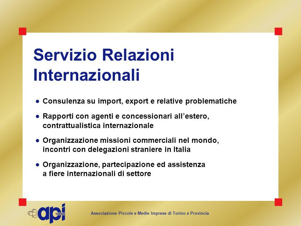 Servizio Relazioni Internazionali