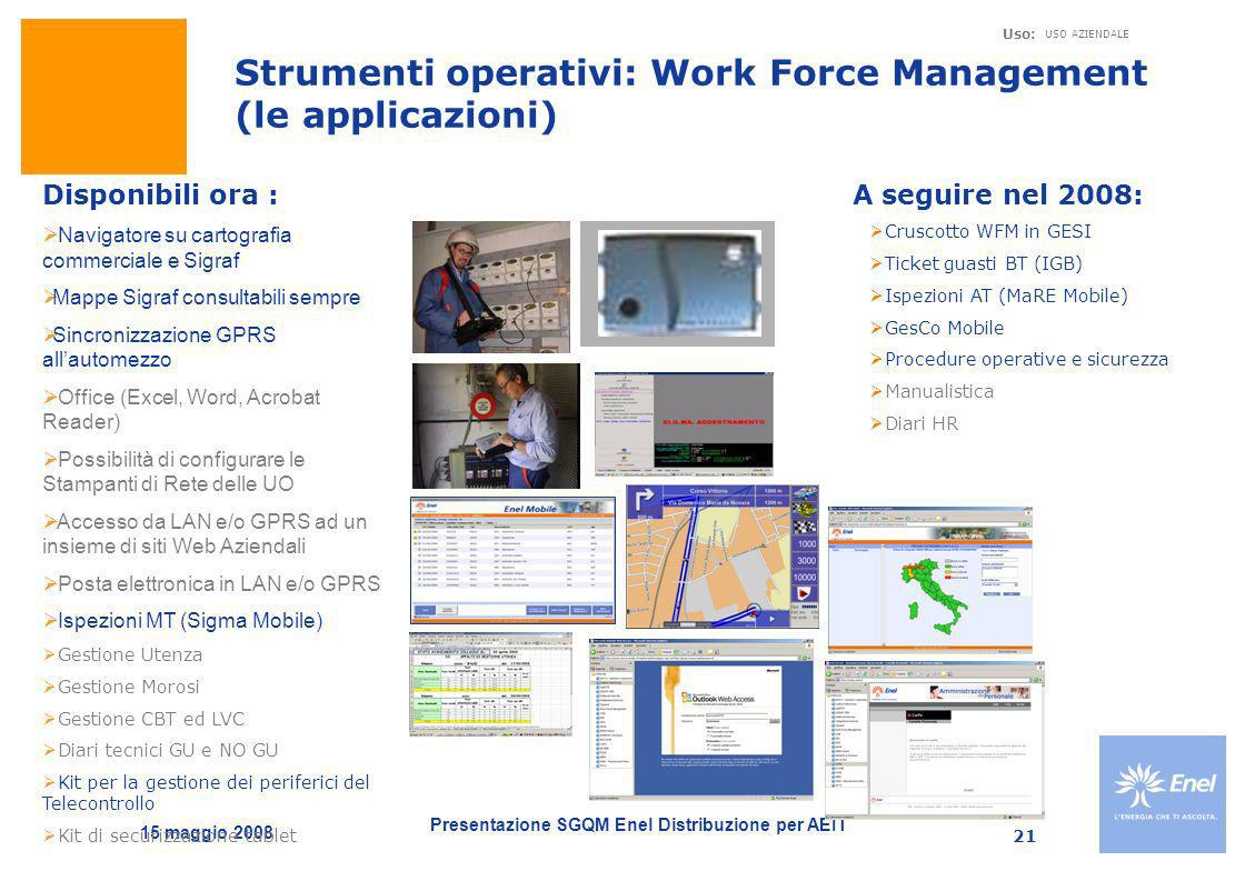 Strumenti operativi: Work Force Management (le applicazioni)