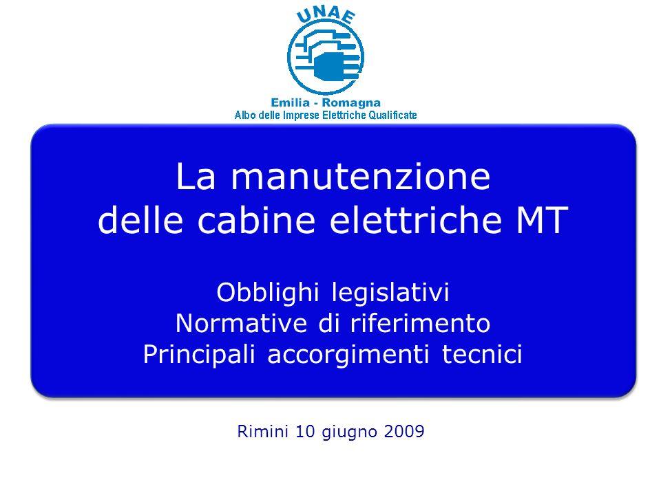 La manutenzione delle cabine elettriche MT