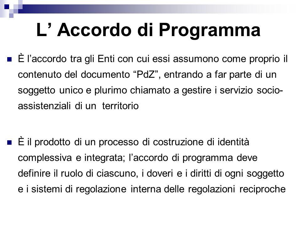 L' Accordo di Programma