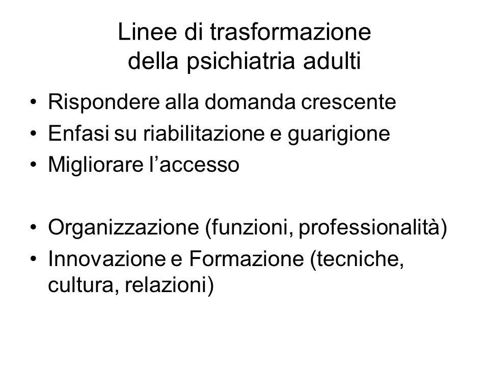 Linee di trasformazione della psichiatria adulti