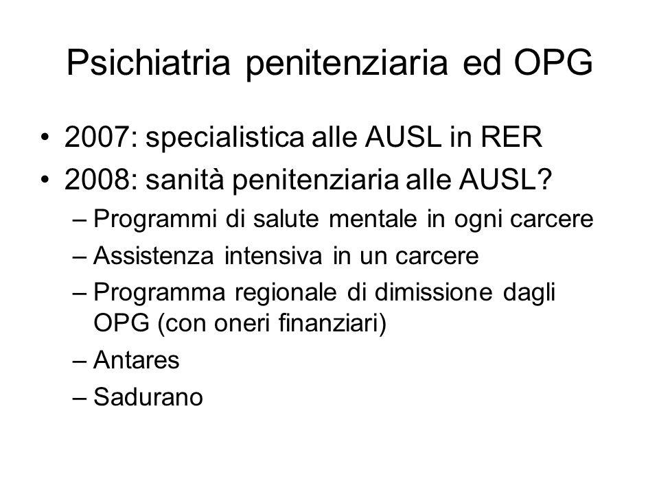 Psichiatria penitenziaria ed OPG