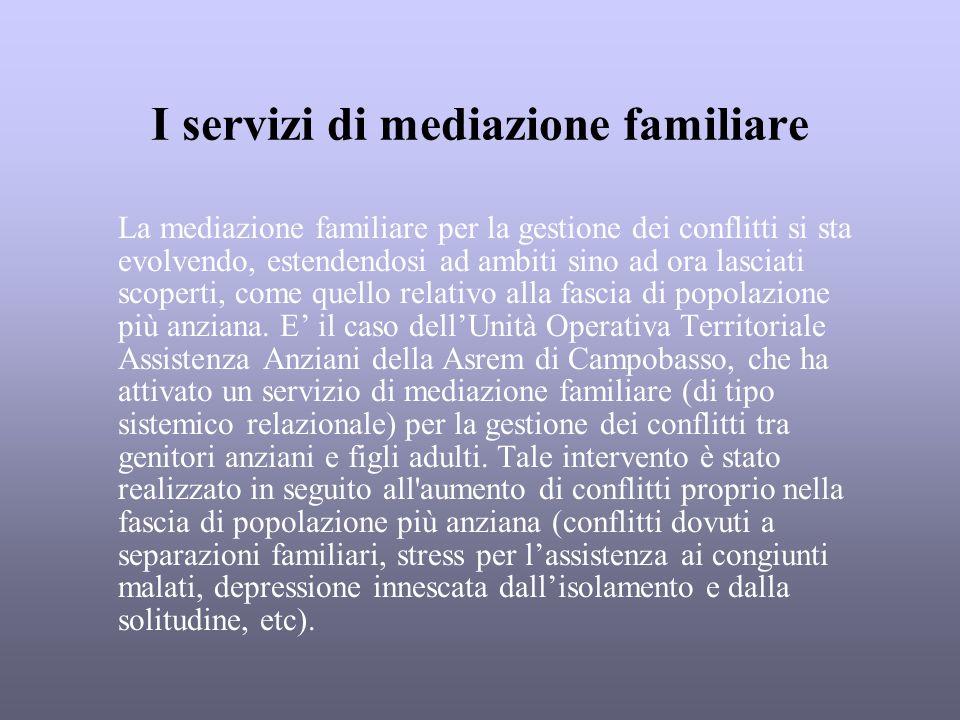 I servizi di mediazione familiare