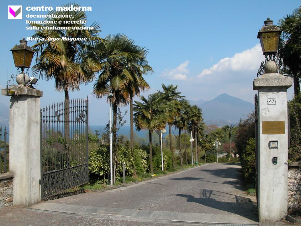 centro maderna documentazione, formazione e ricerche sulla condizione anziana Stresa, lago Maggiore
