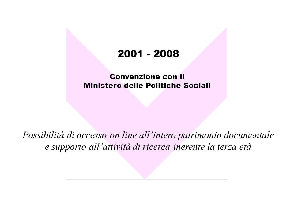 Possibilità di accesso on line all'intero patrimonio documentale