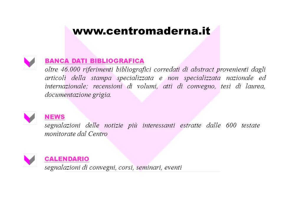 www.centromaderna.it BANCA DATI BIBLIOGRAFICA.