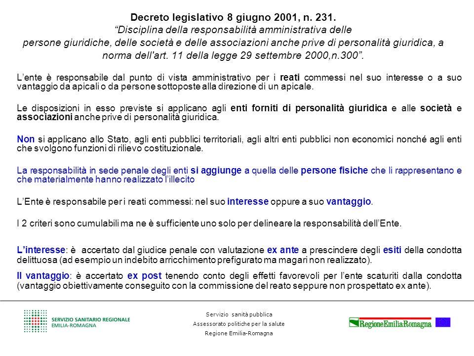 Decreto legislativo 8 giugno 2001, n. 231