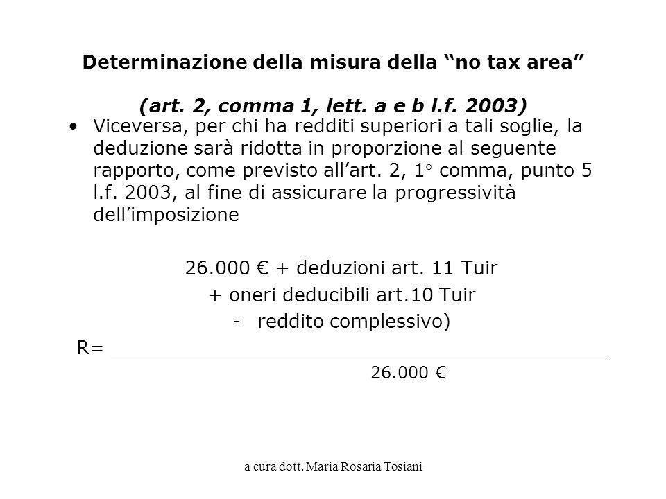 + oneri deducibili art.10 Tuir reddito complessivo)
