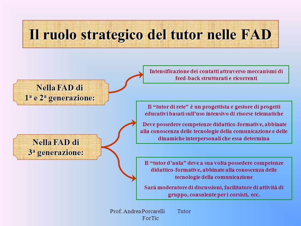 Il ruolo strategico del tutor nelle FAD
