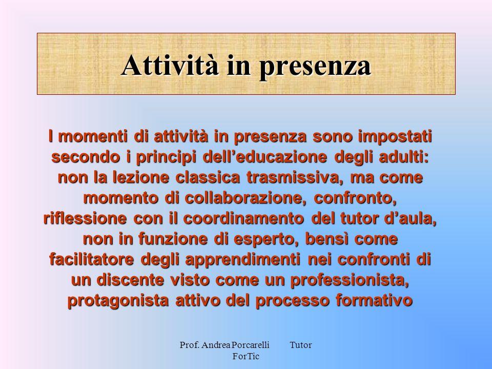 Prof. Andrea Porcarelli Tutor ForTic