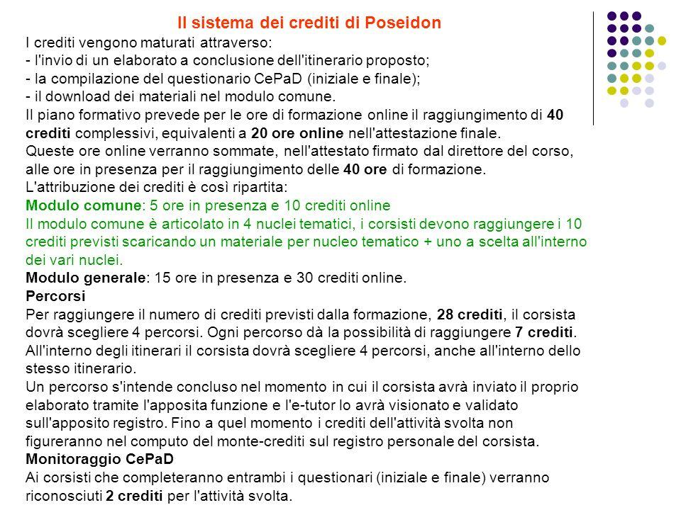 Il sistema dei crediti di Poseidon
