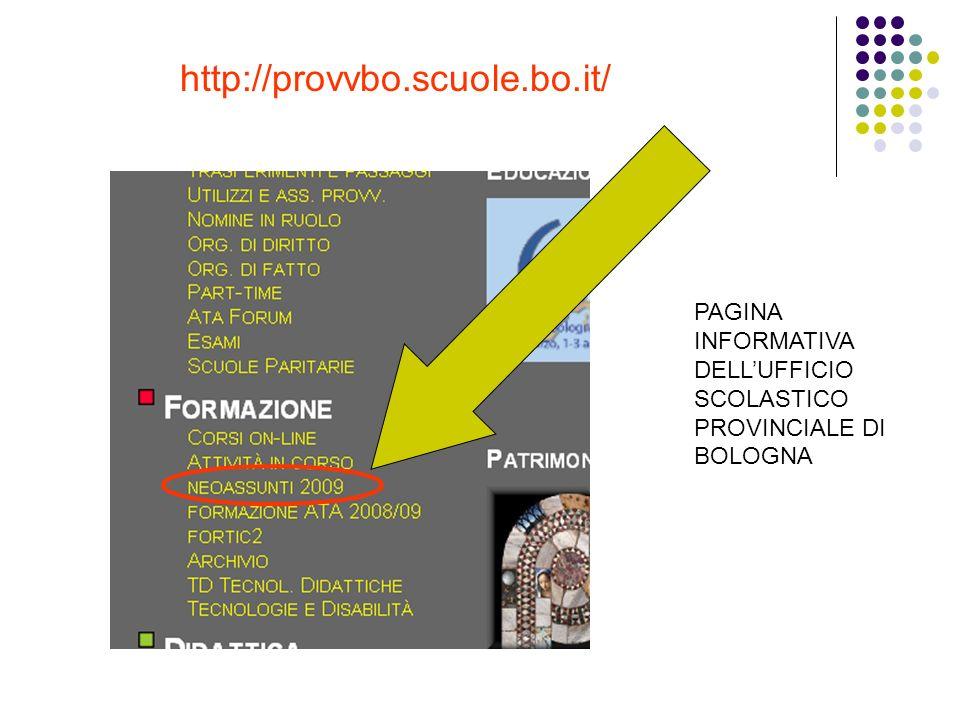 http://provvbo.scuole.bo.it/ PAGINA INFORMATIVA