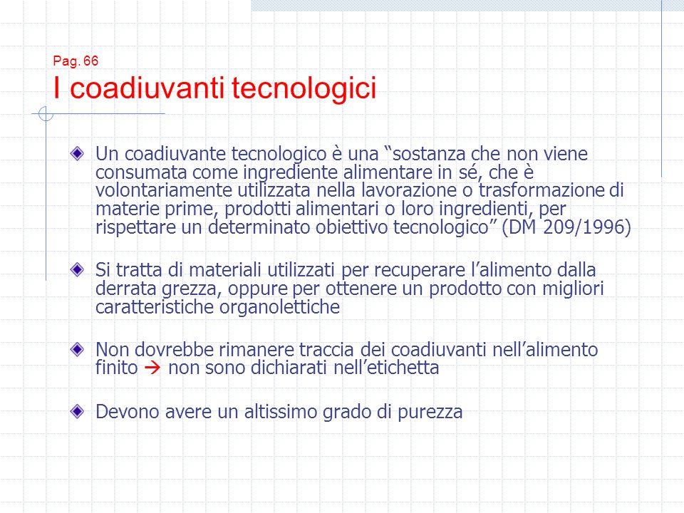 Pag. 66 I coadiuvanti tecnologici