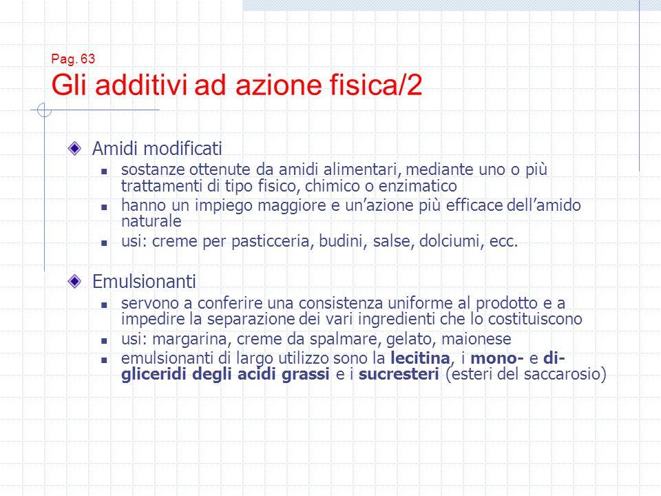 Pag. 63 Gli additivi ad azione fisica/2