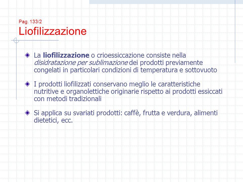 Pag. 133/2 Liofilizzazione