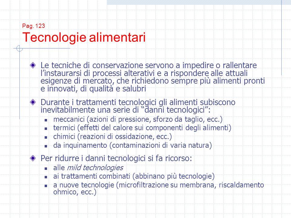 Pag. 123 Tecnologie alimentari