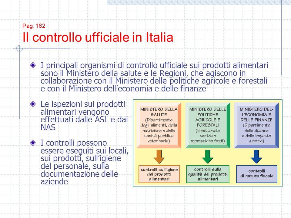 Pag. 162 Il controllo ufficiale in Italia