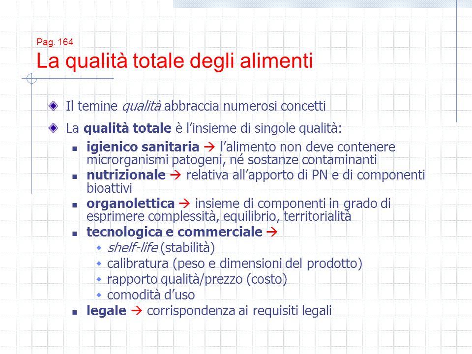 Pag. 164 La qualità totale degli alimenti