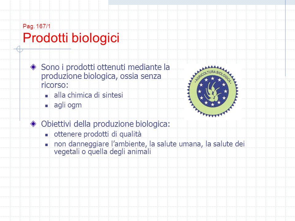 Pag. 167/1 Prodotti biologici