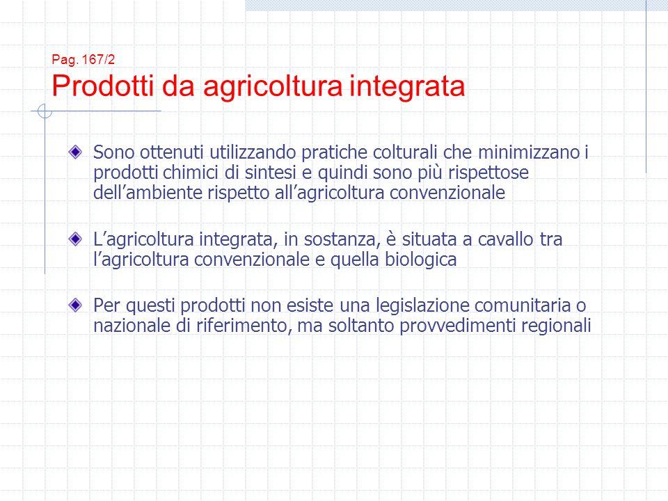 Pag. 167/2 Prodotti da agricoltura integrata