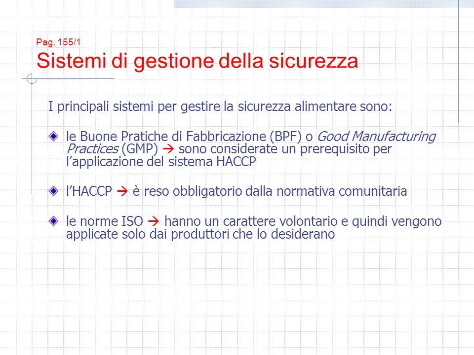 Pag. 155/1 Sistemi di gestione della sicurezza