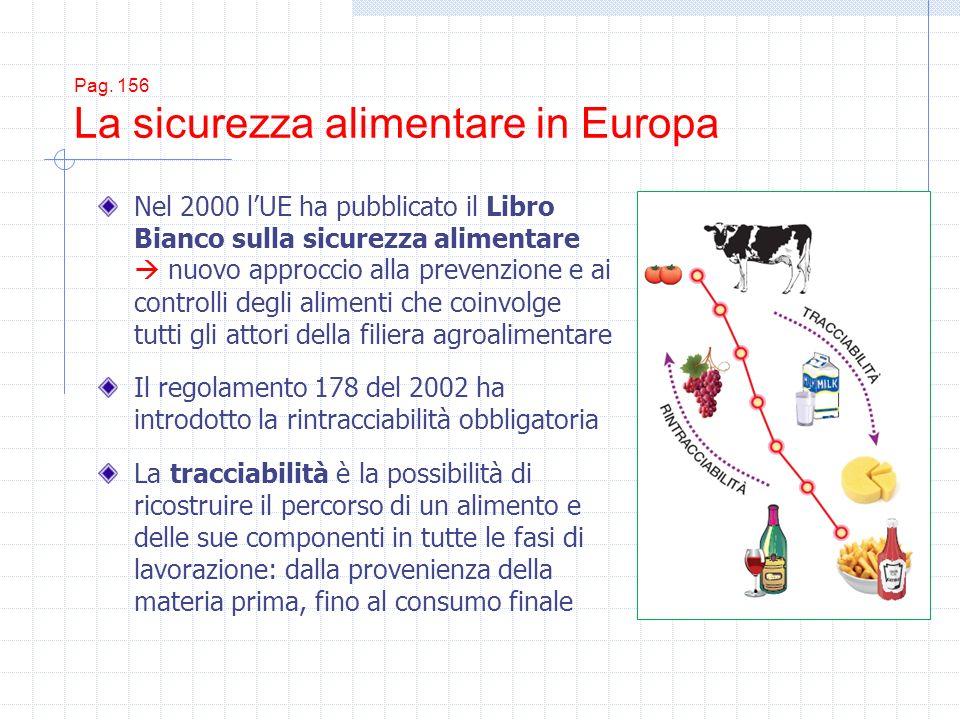 Pag. 156 La sicurezza alimentare in Europa