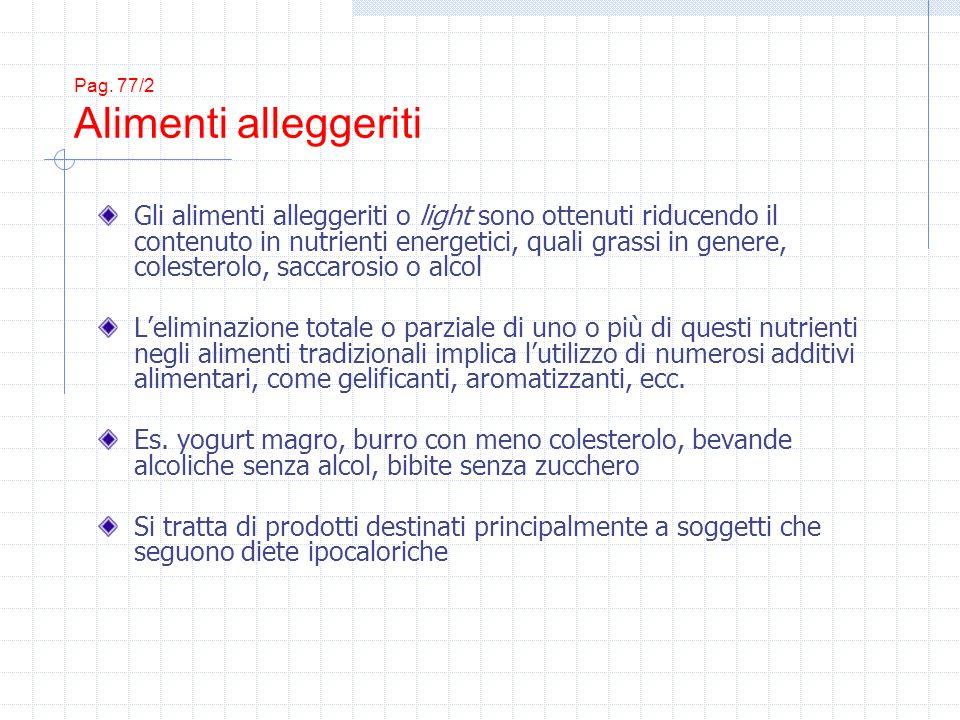 Pag. 77/2 Alimenti alleggeriti