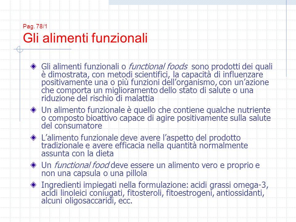Pag. 78/1 Gli alimenti funzionali