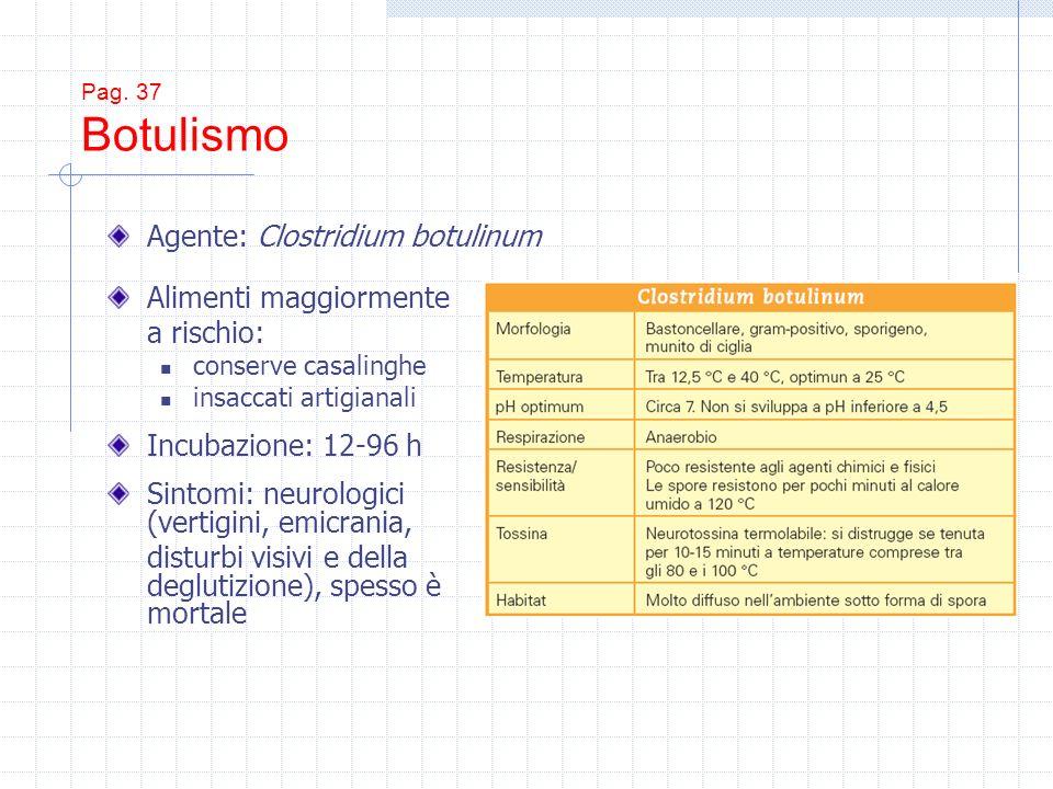 Agente: Clostridium botulinum