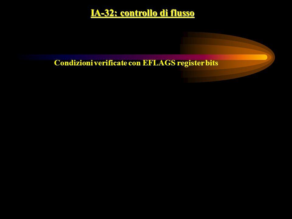 IA-32: controllo di flusso