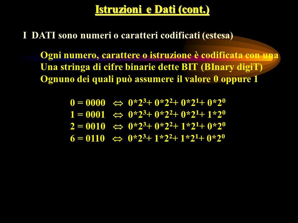 Istruzioni e Dati (cont.)