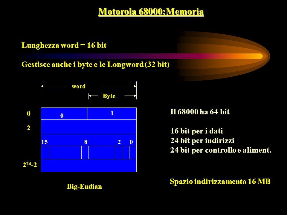 Motorola 68000:Memoria Lunghezza word = 16 bit