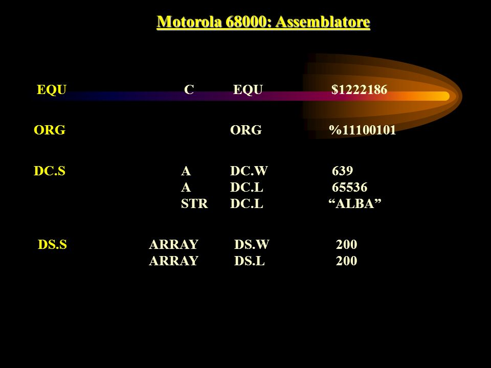 Motorola 68000: Assemblatore