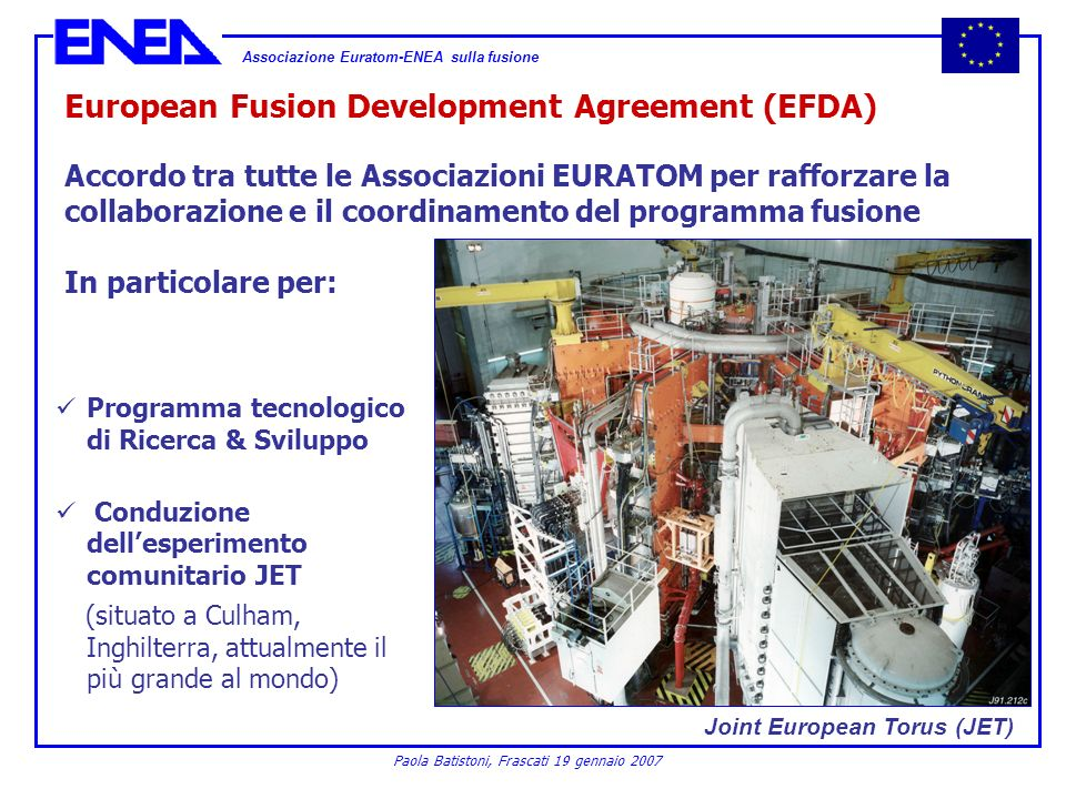 European Fusion Development Agreement (EFDA)