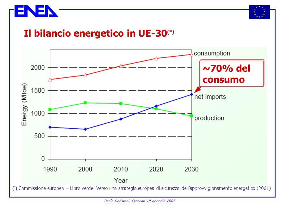 Il bilancio energetico in UE-30(*)