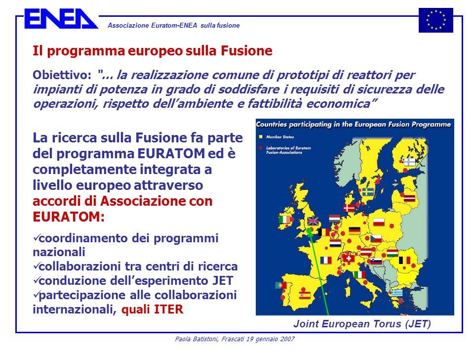 Il programma europeo sulla Fusione