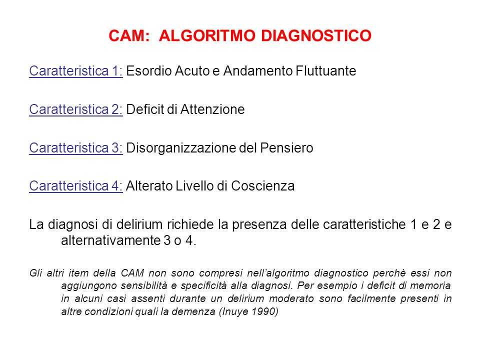 CAM: ALGORITMO DIAGNOSTICO