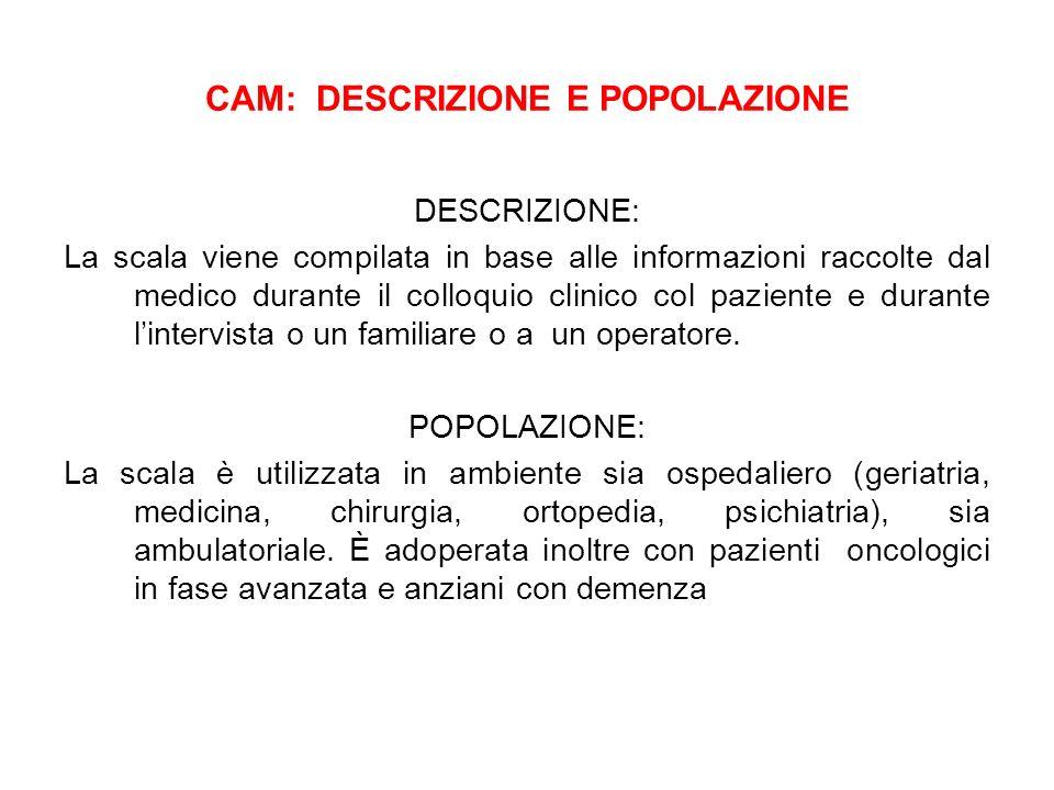 CAM: DESCRIZIONE E POPOLAZIONE