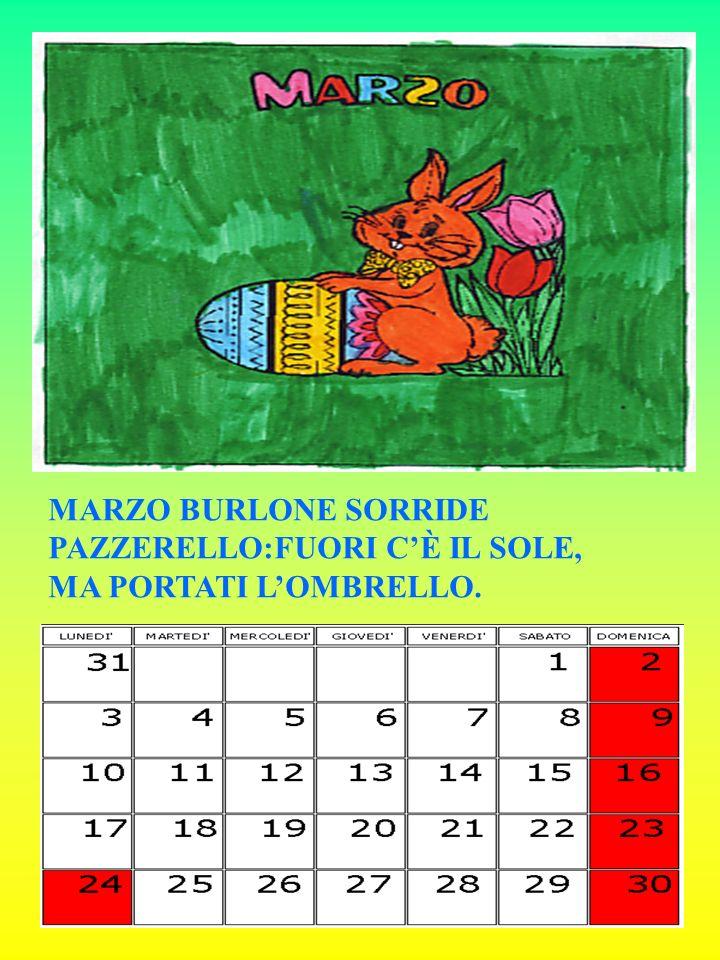 MARZO BURLONE SORRIDE PAZZERELLO:FUORI C'È IL SOLE, MA PORTATI L'OMBRELLO.