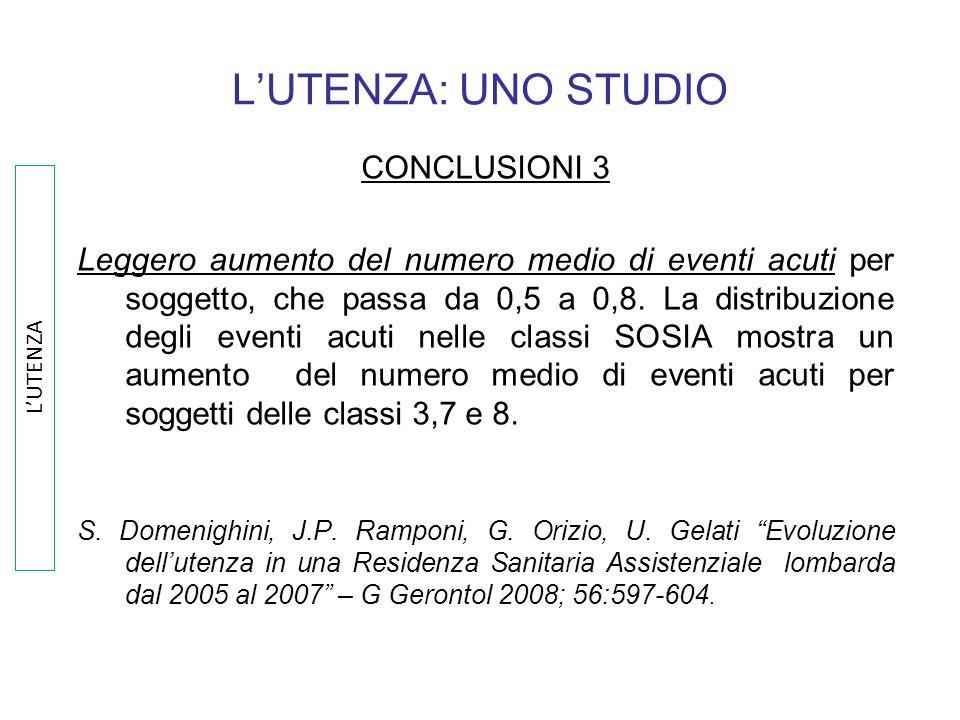 L'UTENZA: UNO STUDIO CONCLUSIONI 3